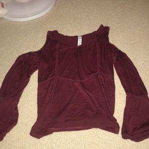 Tops - Cold Shoulder Shirt
